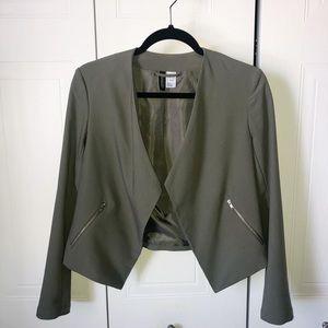 *H&M* Olive green blazer